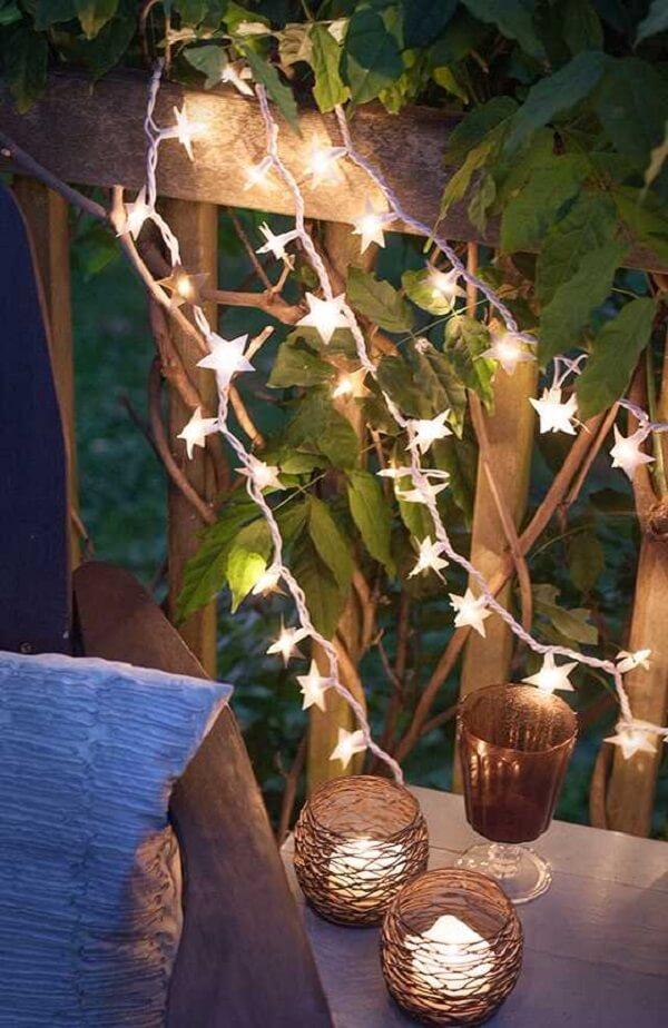 O cordão de luz é perfeito para áreas externas