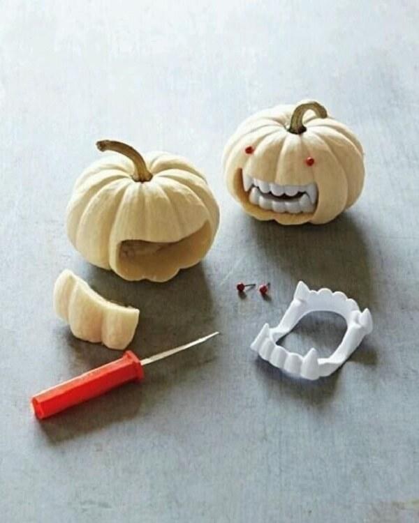 How about including dentures in your halloween pumpkin?
