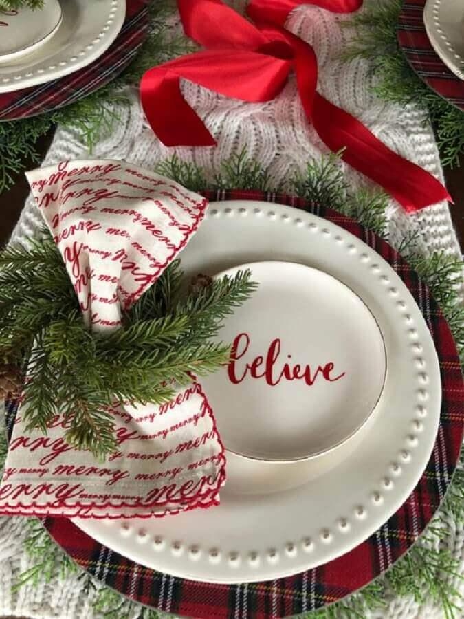 arranjo natalino para mesa Foto Christmas Glitter
