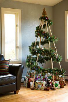 Árvore de natal diferente e criativa
