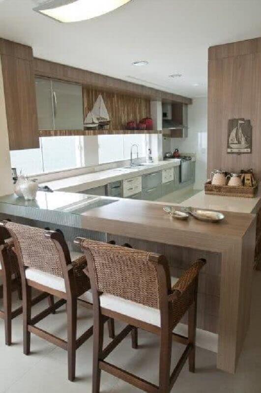 balcão de cozinha de canto Foto Incasa Design
