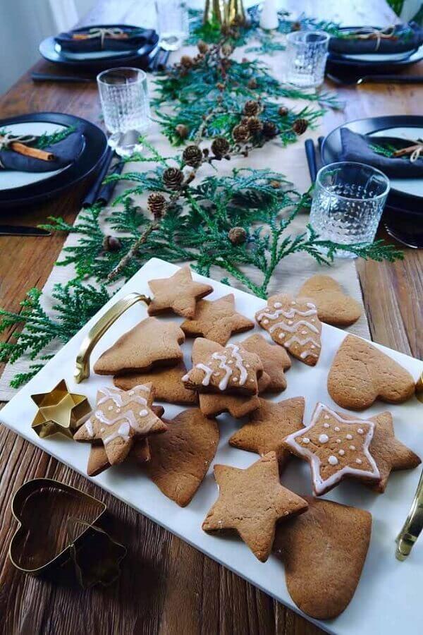 biscoitos temáticos para mesa natalina simples Foto Pinterest