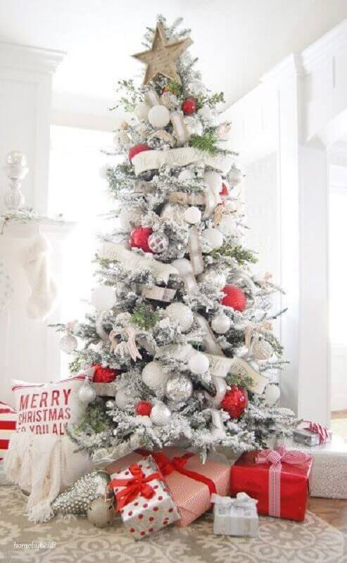 large christmas balls for decorating large white christmas tree Photo The Happy Hideout