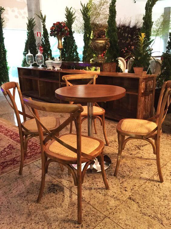 Cadeira paris de madeira