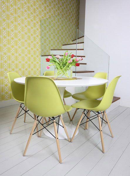 Cadeira saarinen verde
