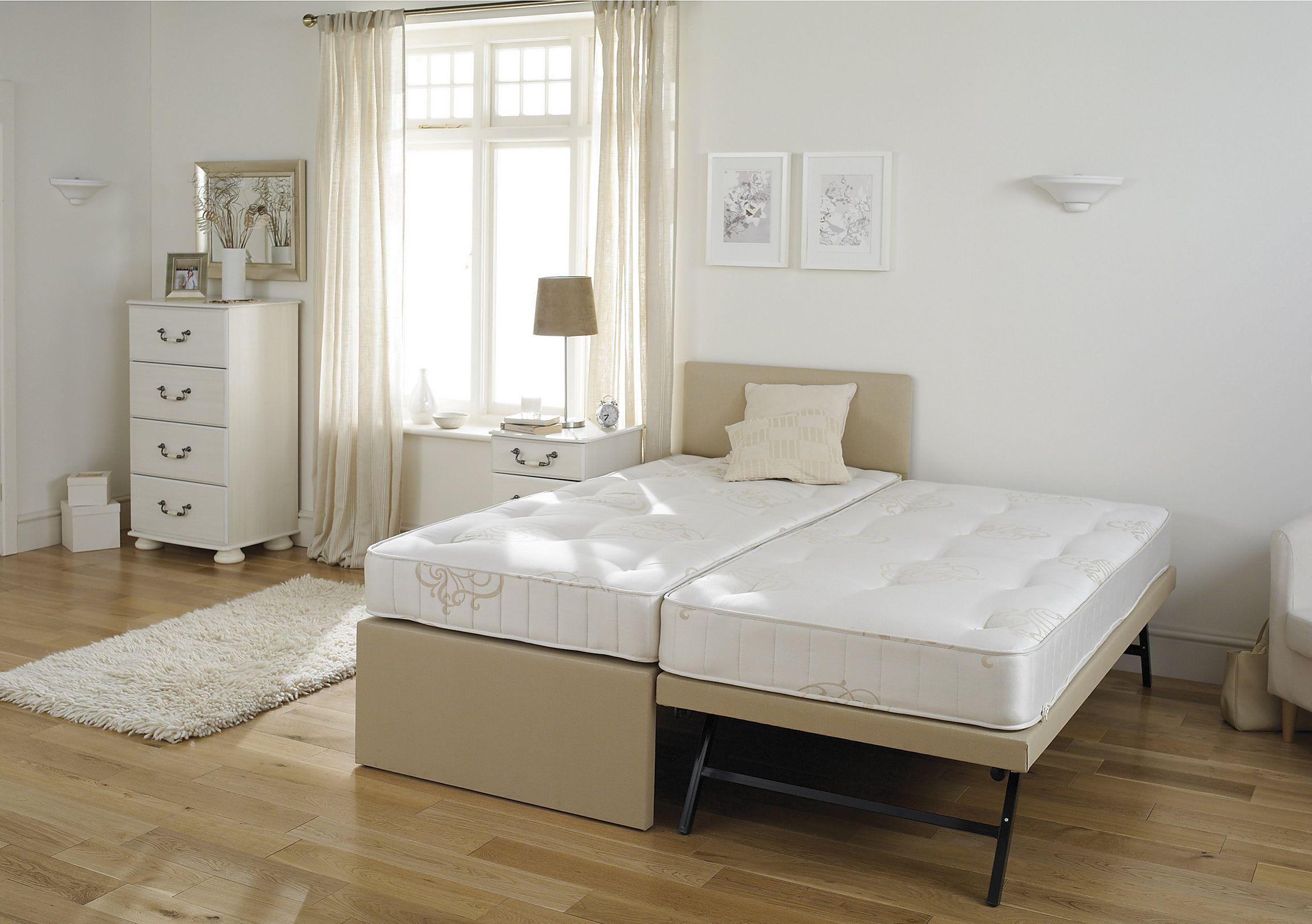 Cama box solteiro com cama auxiliar que vira cama de casal