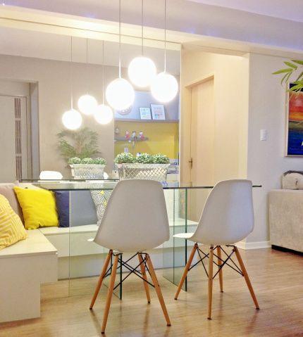 Canto alemão com mesa de vidro
