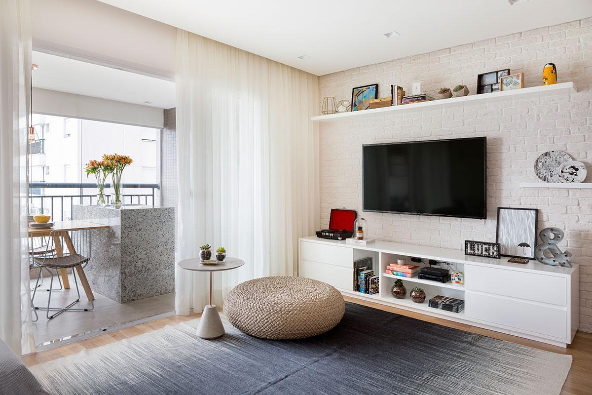 Cortinas para sala modernas brancas