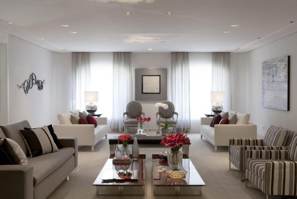 Cortinas para sala modernas cinza