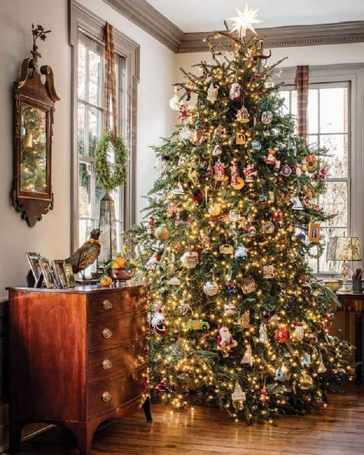 large and full Christmas tree decoration Photo The Cottage Journal