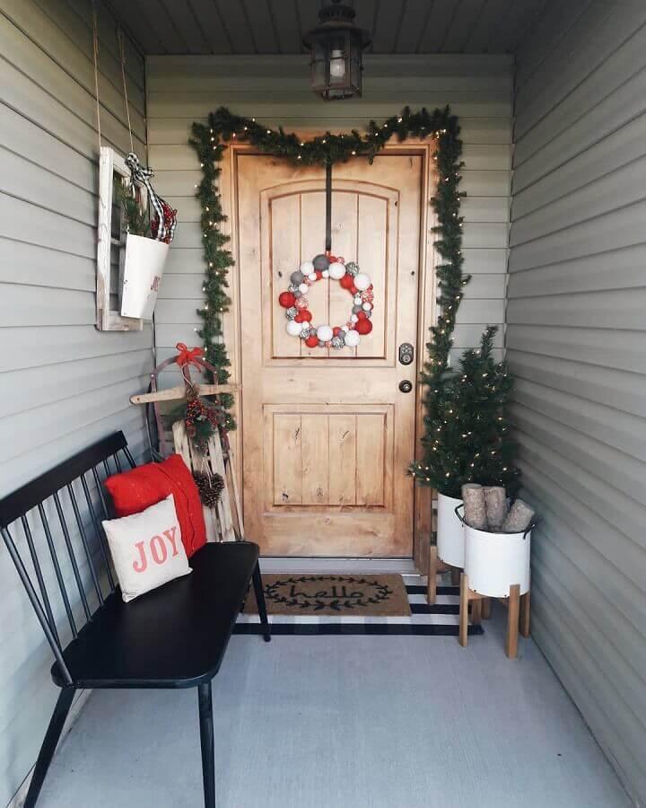Christmas Festoon decoration for front door Photo Christmas Glitter