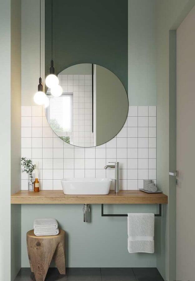 decoração com pendente para bancada de banheiro simples Foto Archilovers