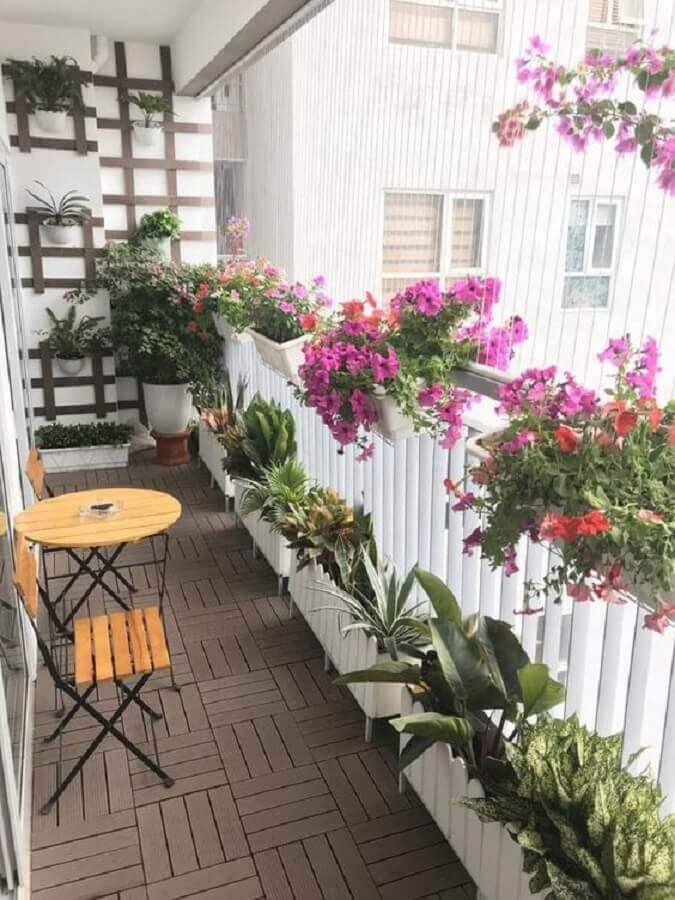 decoração com plantas e flores para varanda Foto Babylon Landscape