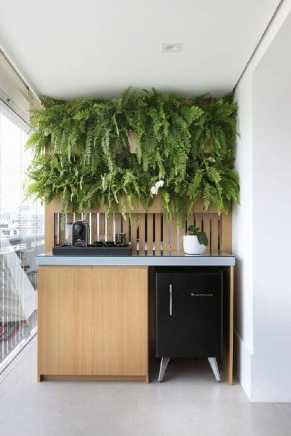 decoração com plantas para varanda gourmet Foto Pinterest