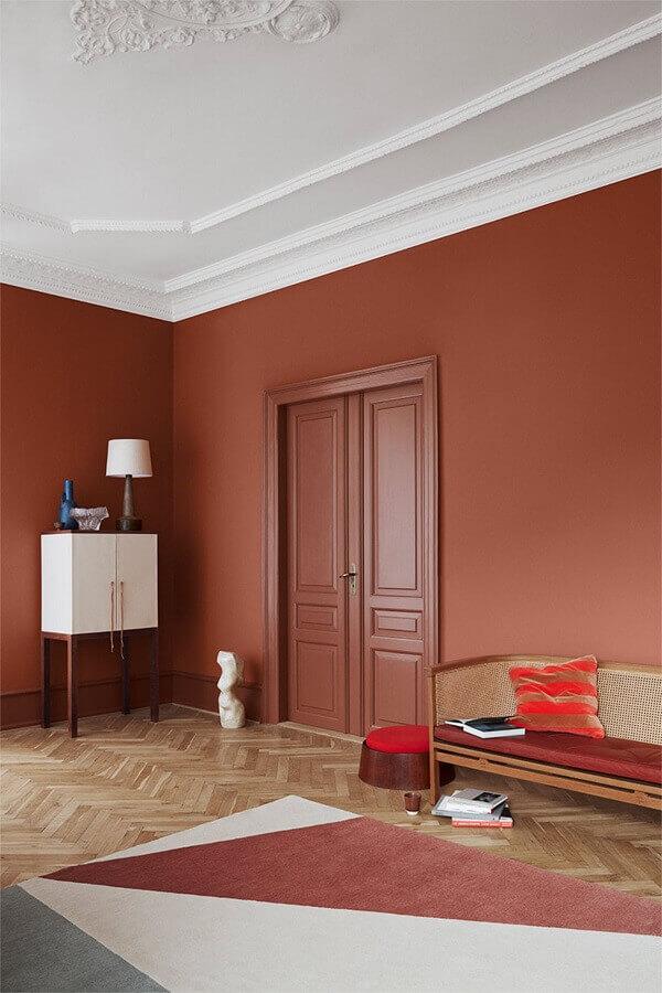 decoração de casa em tons terrosos  Foto RHINOV