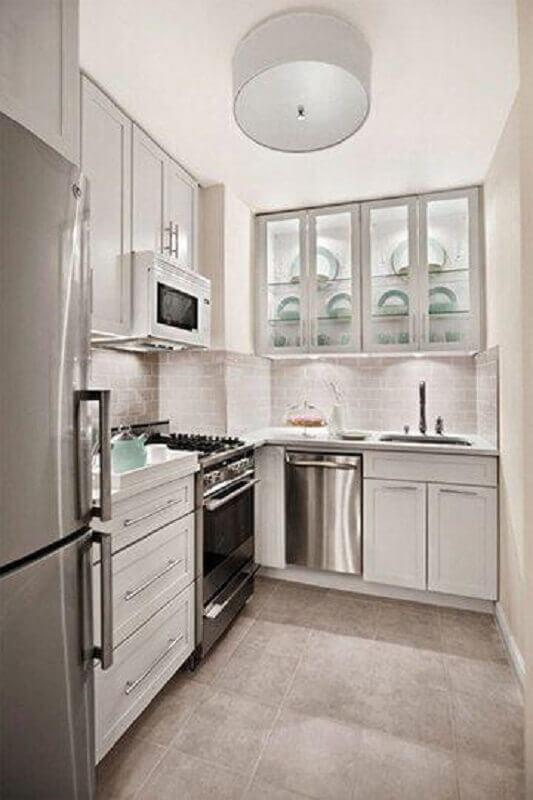 decoração de cozinha de canto pequena Foto Home Fashion Trend