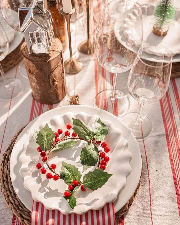 decoração de mesa natalina vermelha e branca Foto Ana Carolina Arrigoni