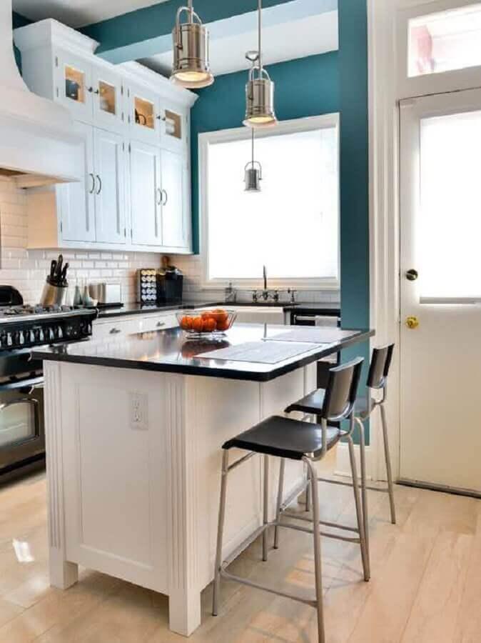 decoração estilo vintage com pendente para bancada de cozinha Foto Architizer