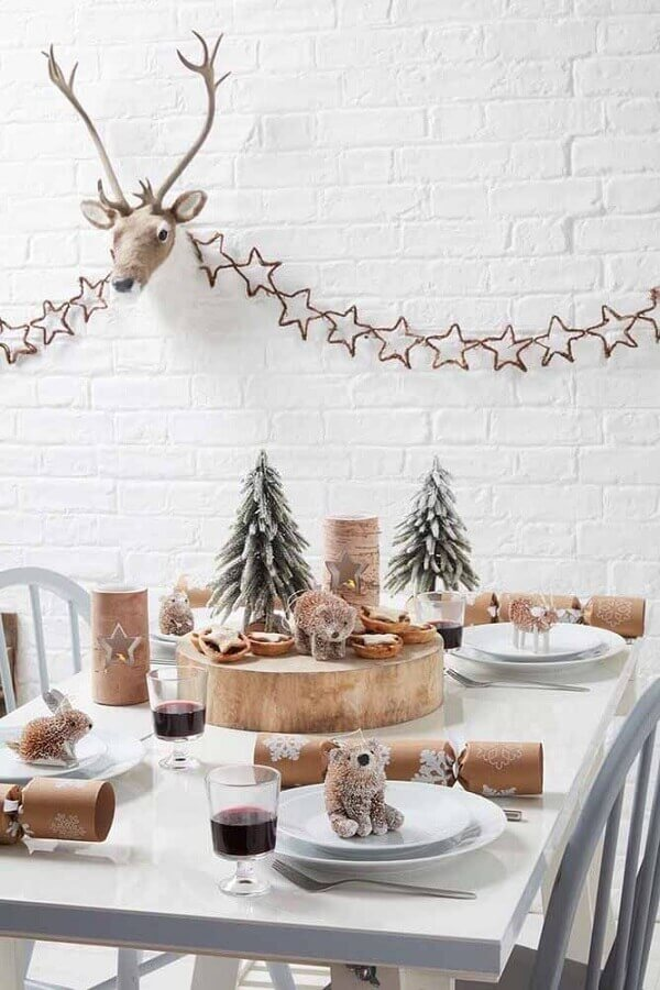 decoração minimalista para mesa natalina simples Foto Kenisa Home