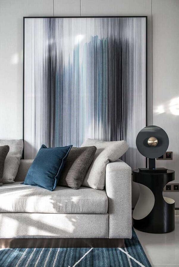 decoração moderna para sala com mesa de canto redonda preta Foto Behance
