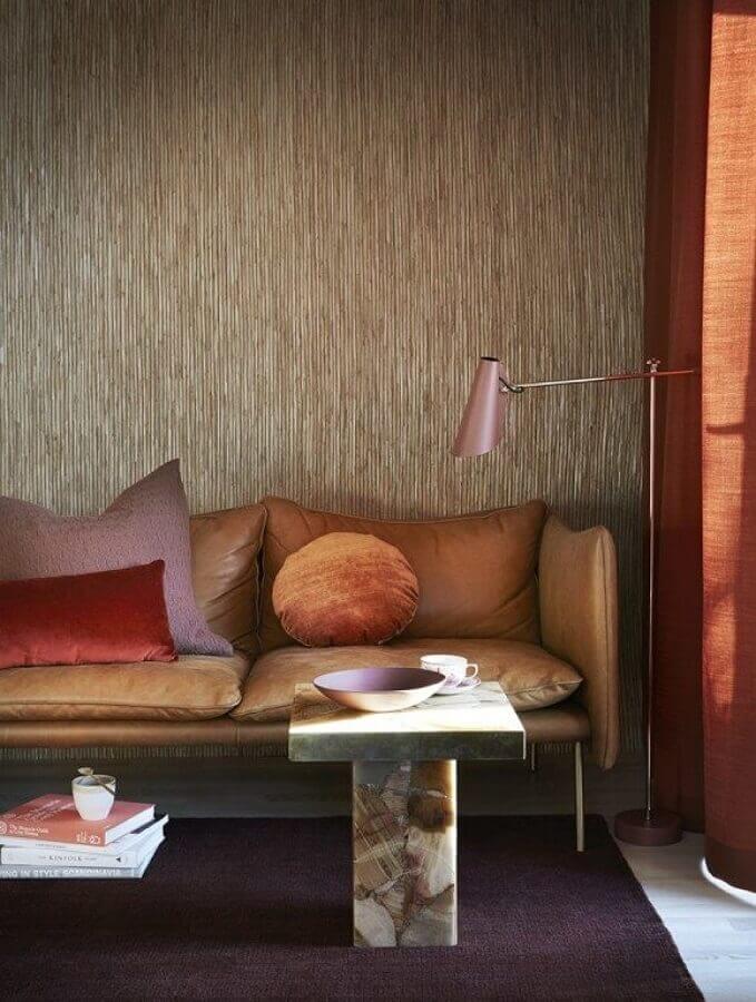 decoração moderna para sala em tons terrosos Foto Home Decor Ideas