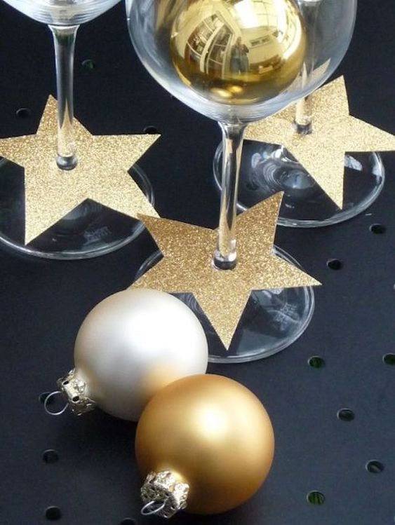 Taças na decoração de ano novo