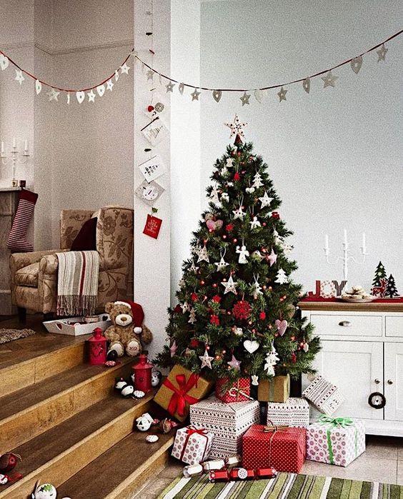 Estrela de natal na decoração natalina