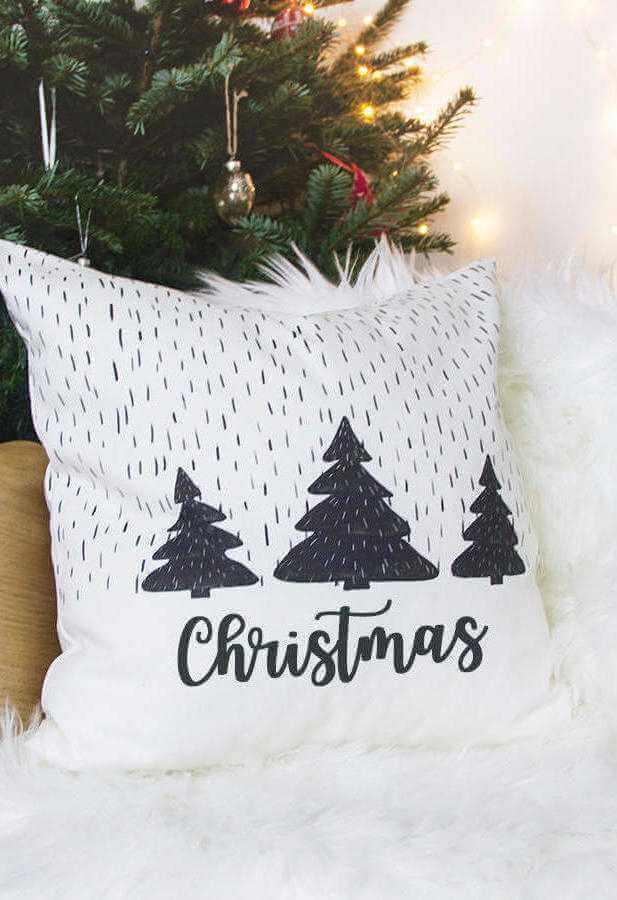 dicas de enfeites natalinos com almofada para sala moderna Foto Elle Decor
