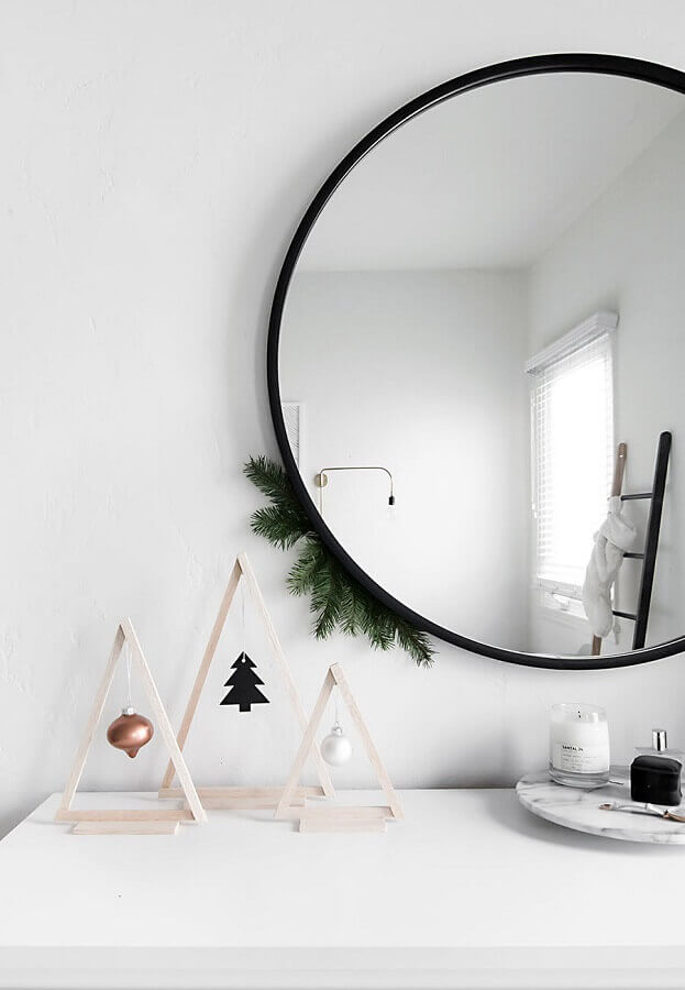 dicas de enfeites natalinos minimalista Foto Pinterest