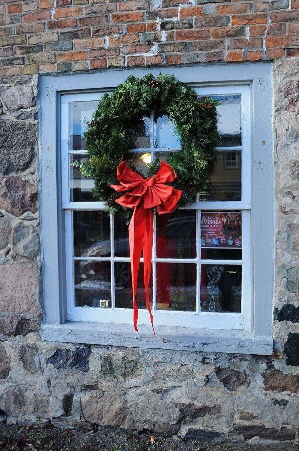 dicas de enfeites natalinos para janela Foto Rustic & Woven