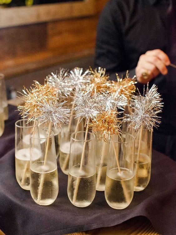 Drinks decorados para ceia de reveillon