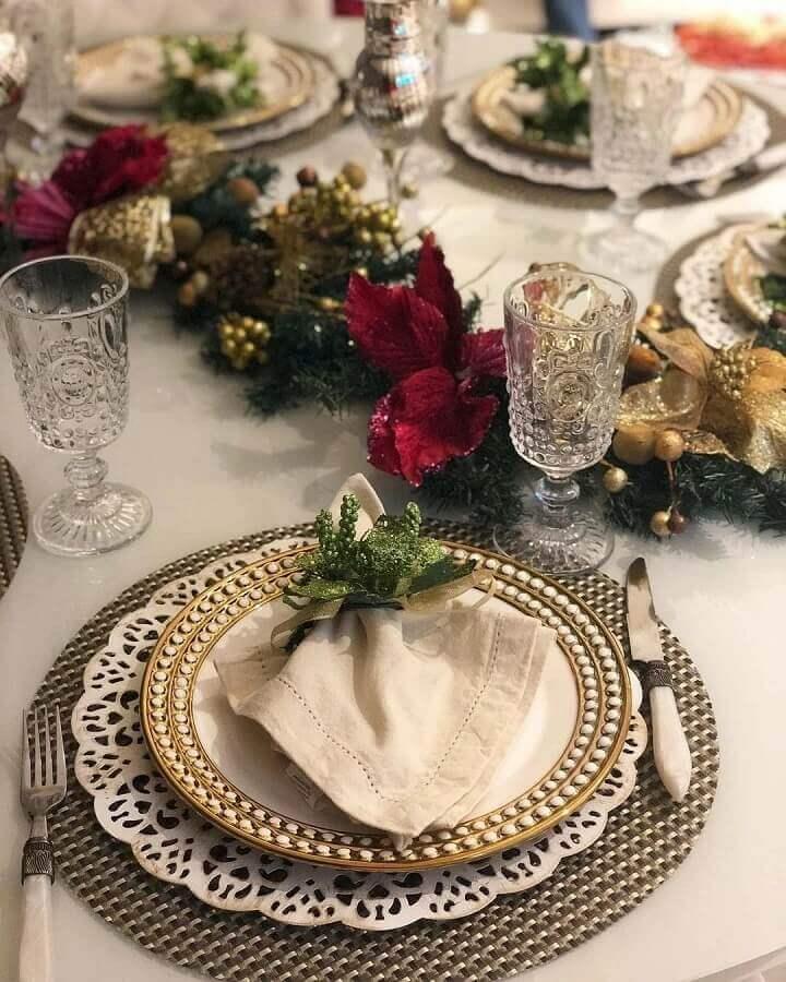 Christmas table decoration Photo Pinterest