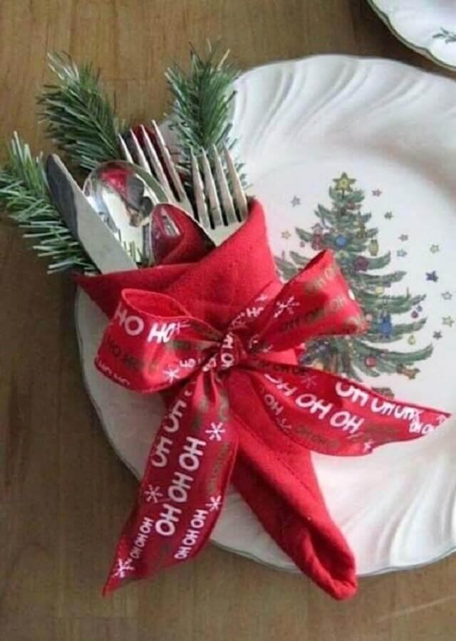 enfeite de mesa natalino fácil de fazer Foto Revista Artesanato