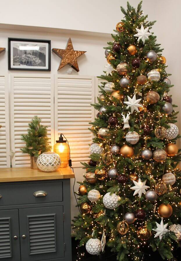 Christmas ornament for golden tree and silver Photo Pinterest
