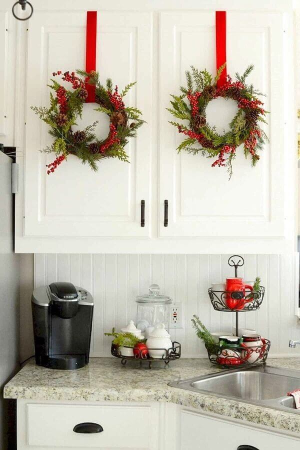 Christmas ornament for kitchen cabinet door Photo Christmas Glitter