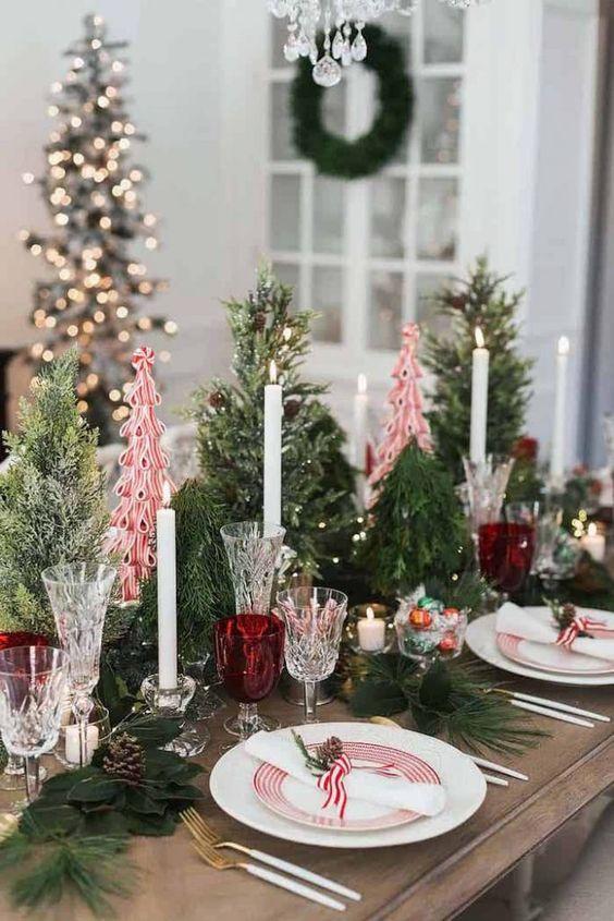 Enfeites de natal para mesa de jantar