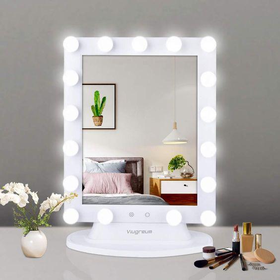 Espelho de mesa camarim grande