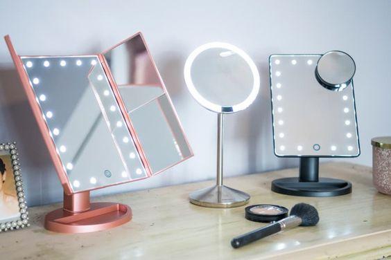 Espelho de led para penteadeira moderna