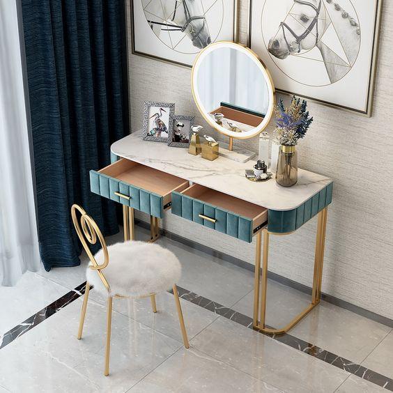 Penteadeira com espelho de led