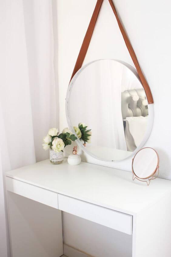 Espelho de mesa pequeno para maquiagem