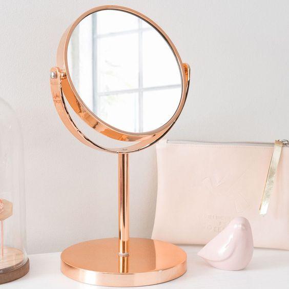 Espelho de mesa rose gold