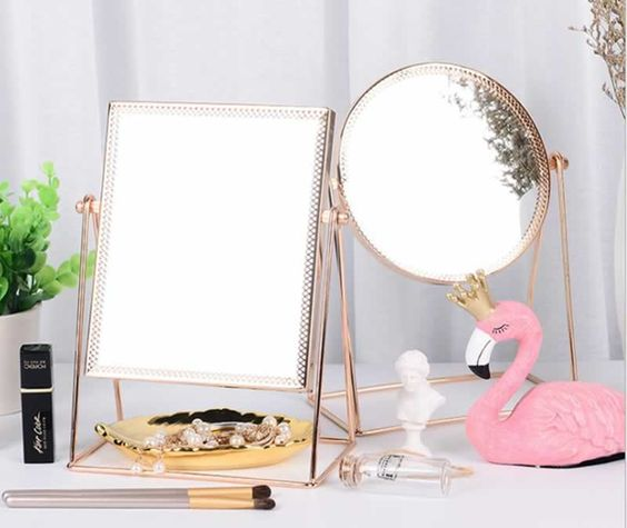 Espelhos para mesa rose gold