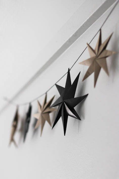 Cortina de estrela de natal