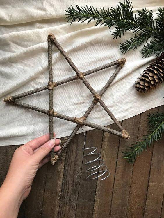 Estela de natal de madeira