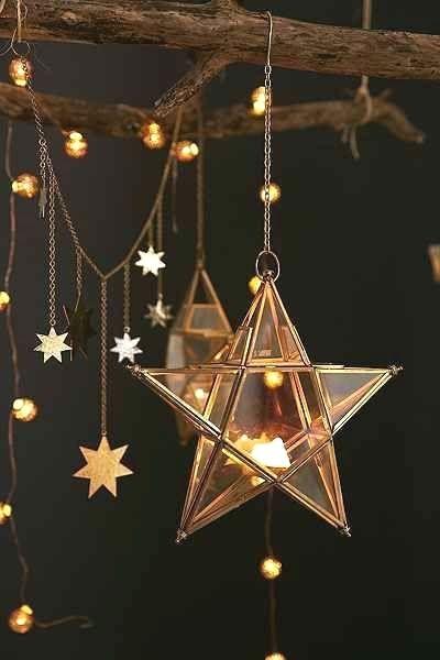 Estrela dourada para ceia de reveillon