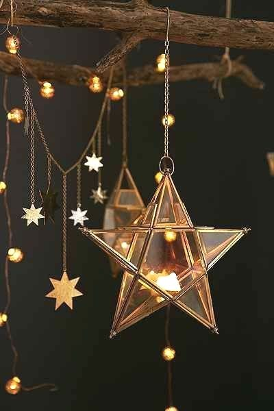 Estrela de natal na decoração moderna