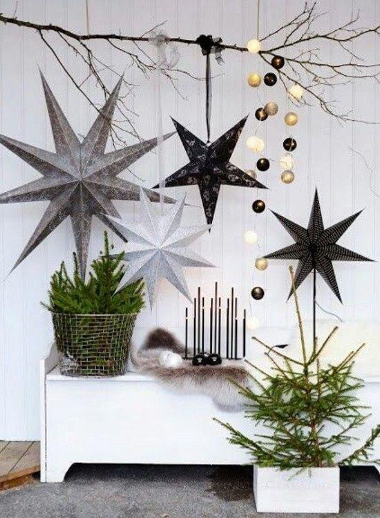 Decoração de natal com estrela