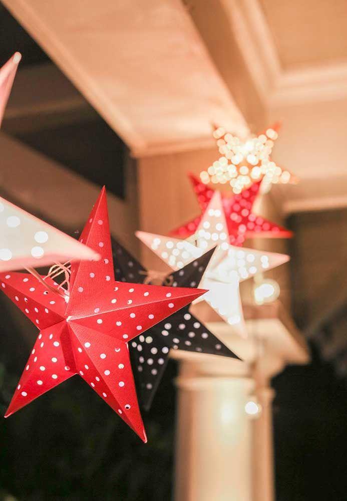 Decoração com estrela de natal