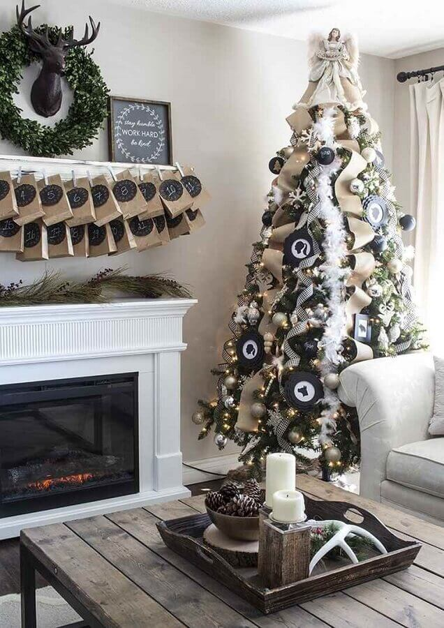white christmas party for decoration of room with Christmas tree Photo Pinterest