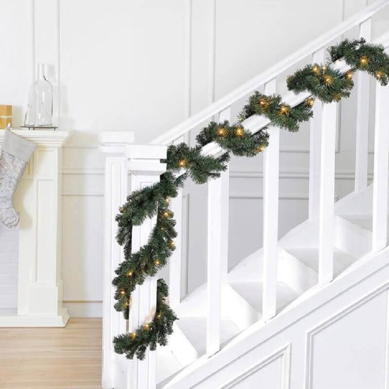 christmas party with blinker for staircase decoration Photo The Home Depot